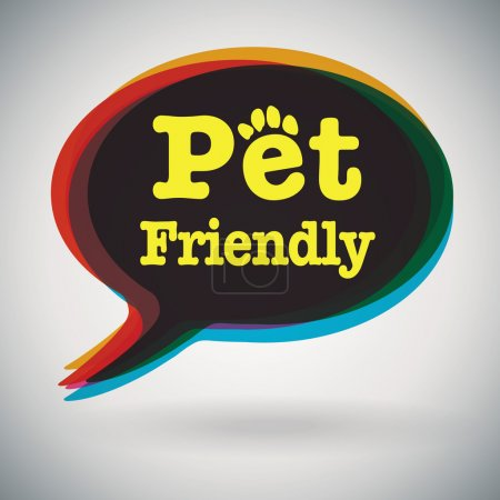 Illustration for Speech bubble - Pet Friendly on grey background - Royalty Free Image