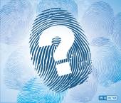 Question Mark Symbol on Thumbprint