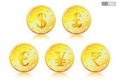 Currency symbols on Gold Coin