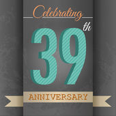39th Anniversary poster  template design