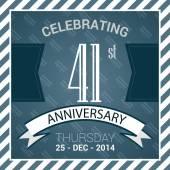 41st Anniversary poster