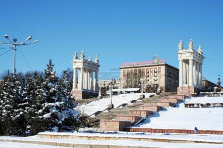 Volgograds Embankment in the winter