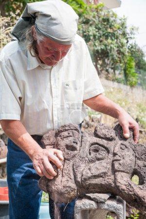 Lava stone sculptor