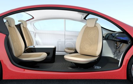 Self-driving car interior concept