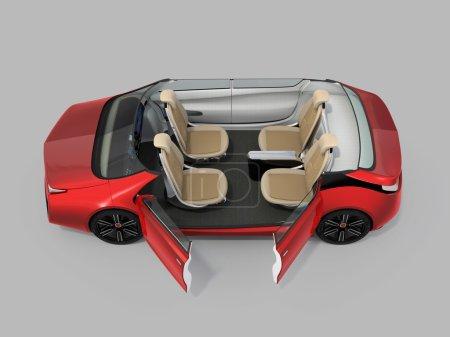 Self-driving car cutaway image