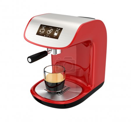 Stylish espresso coffee machine with touch screen
