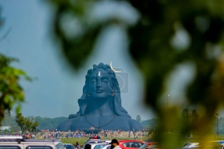 Photo for COIMBATORE , INDIA - DECEMBER 26, 2020: Adiyogi Shiva Statue - People Are Visiting And Praying Lord Shiva Statue in Isha Yoga. Editorial Stock Images - Royalty Free Image