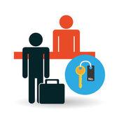 Hotel design. Ikona služby. cestovní koncept