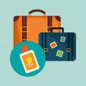 Ploché ilustrace cestování design, vektorové