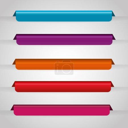 Bookmark icons graphic design, vector illustration...