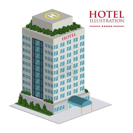 Illustration for Hotel design over white background vector illustration - Royalty Free Image