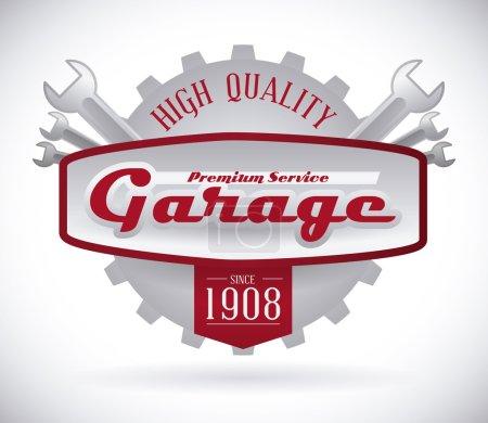 Illustration pour Conception de garage, illustration vectorielle - image libre de droit