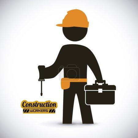 Illustration pour Conception de construction, illustration vectorielle - image libre de droit