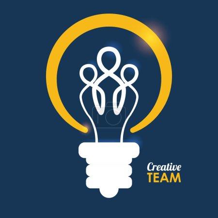 Illustration pour Conception de travail d'équipe, illustration vectorielle eps10 graphique - image libre de droit