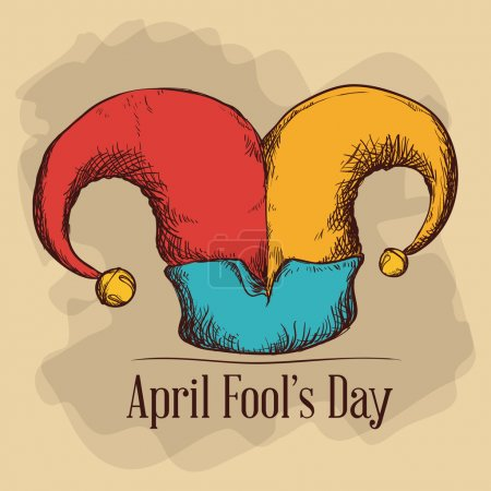 Illustration for April fools day design, vector illustration. - Royalty Free Image