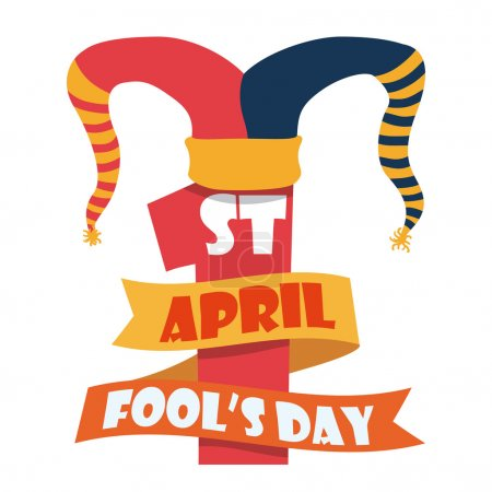 Illustration for April fools day design, vector illustration. - Royalty Free Image