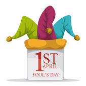 April fools day design vector illustration