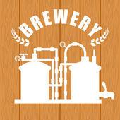 Beer design over wooden backgroundvector illustration