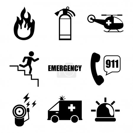 Fire Emergency, Vector illustration, graphic eps 1...