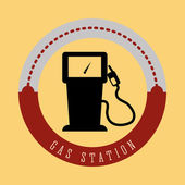 Gas Station digital design vector illustration 10 eps graphic