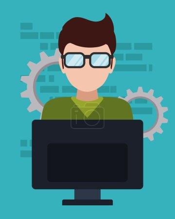 Web developer design, vector illustration eps 10....