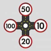 Limit of km design vector illustration 10 eps graphic