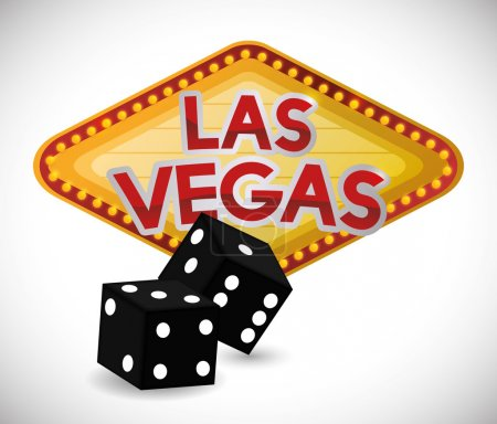 Las Vegas concept with casino icons design, vector...