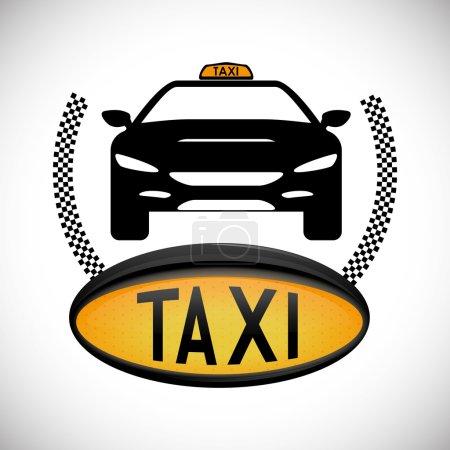 Illustration pour Concept de taxi avec icône de service design, illustration vectorielle 10 eps graphique . - image libre de droit
