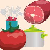 Domácí kuchyně design ikony