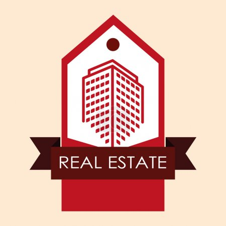 Illustration for Real Estate concept and residential icons design, vector illustration 10 eps graphic. - Royalty Free Image