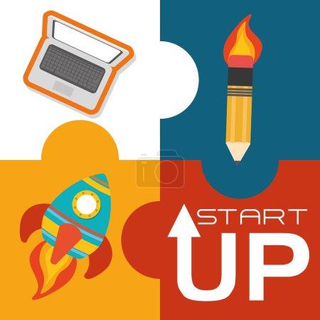 Start up icons design