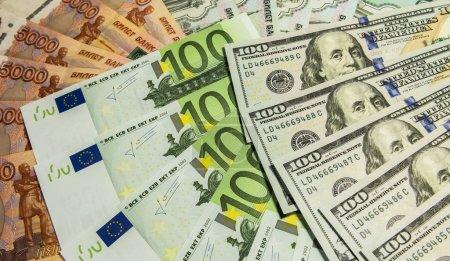 Money spread out like a fan.