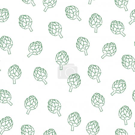 Vitamin artichoke doodle pattern for kitchen design