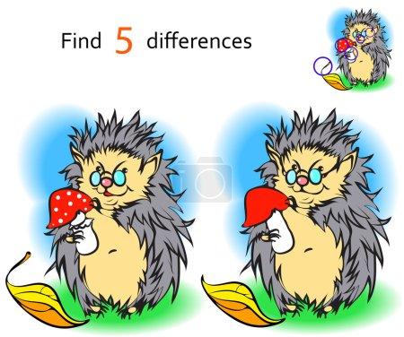 Find 3 differences hedgehog