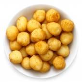 Small golden fried potato balls.