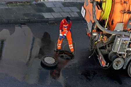 Sewer cleaning .
