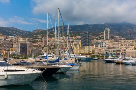 yachts in the port of Monaco