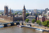 London in an aerial view