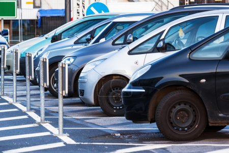 Photo for Parking cars in a row - Royalty Free Image