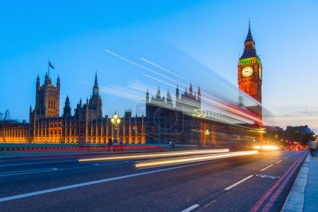 Photo pour Big Ben et Westminster Palace pendant la nuit - image libre de droit