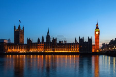 Photo for Big Ben and Westminster Palace at night - Royalty Free Image