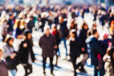 Photo for Crowd of people in the city out of focus - Royalty Free Image