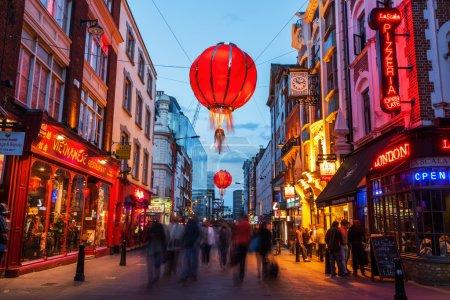 Photo pour Chinatown à Londres dans la nuit - image libre de droit