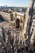 View from the Milan Cathedral on the Cathedral square