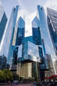 Modern office buildings in the financial districts La Defense in Paris, France