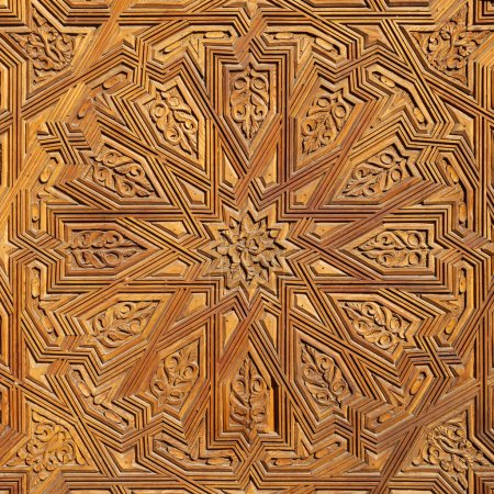 Detail of an antique Moroccan door