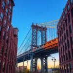 Manhattan Bridge seen from Dumbo, Brooklyn, New Yo...
