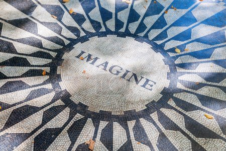 Imagine mosaic of the Strawberry Fields Memorial in Central Park, Manhattan, NYC