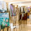 Abstrac background blur art gallery painting frame...