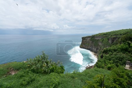 Uluwatu cliff face and the sea, Bali Island
